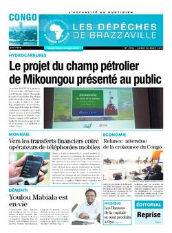 Les Dépêches de Brazzaville : Édition brazzaville du 12 août 2019