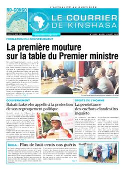 Les Dépêches de Brazzaville : Édition brazzaville du 13 août 2019