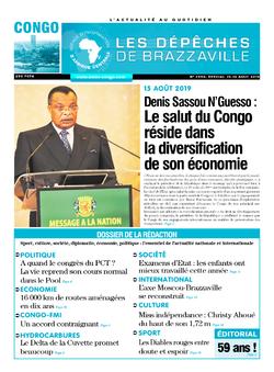Les Dépêches de Brazzaville : Édition brazzaville du 15 août 2019