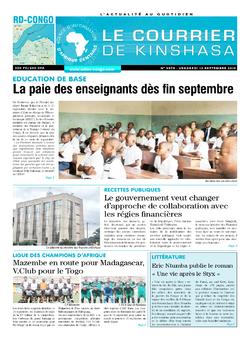 Les Dépêches de Brazzaville : Édition brazzaville du 13 septembre 2019