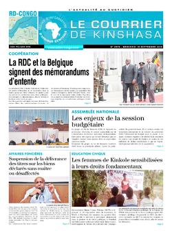 Les Dépêches de Brazzaville : Édition brazzaville du 19 septembre 2019