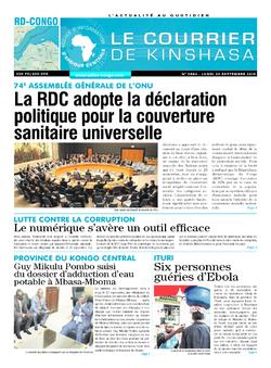 Les Dépêches de Brazzaville : Édition brazzaville du 30 septembre 2019