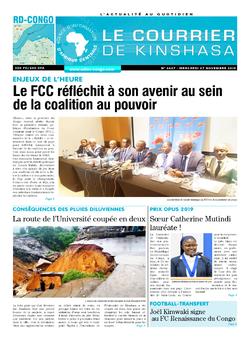 Les Dépêches de Brazzaville : Édition brazzaville du 27 novembre 2019