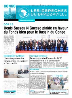 Les Dépêches de Brazzaville : Édition brazzaville du 03 décembre 2019
