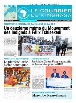 Les Dépêches de Brazzaville : Édition brazzaville du 04 décembre 2019