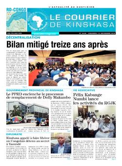 Les Dépêches de Brazzaville : Édition brazzaville du 16 décembre 2019