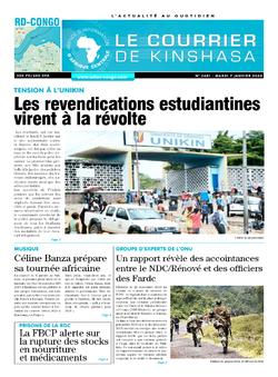 Les Dépêches de Brazzaville : Édition brazzaville du 07 janvier 2020