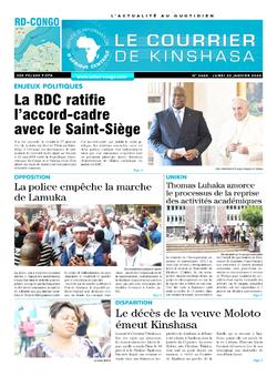 Les Dépêches de Brazzaville : Édition brazzaville du 20 janvier 2020