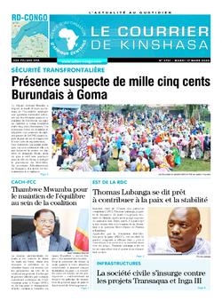 Les Dépêches de Brazzaville : Édition brazzaville du 17 mars 2020