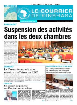 Les Dépêches de Brazzaville : Édition brazzaville du 19 mars 2020
