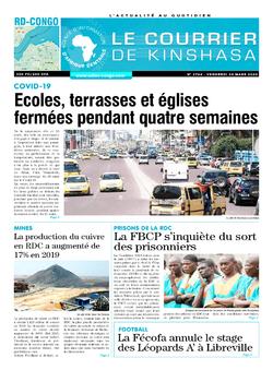 Les Dépêches de Brazzaville : Édition brazzaville du 20 mars 2020