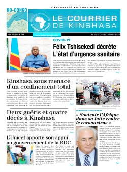 Les Dépêches de Brazzaville : Édition brazzaville du 26 mars 2020