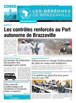 Les Dépêches de Brazzaville : Édition brazzaville du 27 mars 2020
