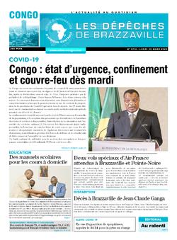 Les Dépêches de Brazzaville : Édition brazzaville du 30 mars 2020