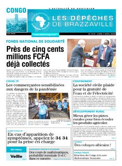 Les Dépêches de Brazzaville : Édition brazzaville du 06 avril 2020