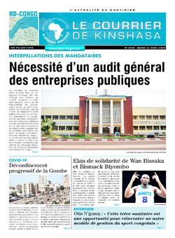 Les Dépêches de Brazzaville : Édition brazzaville du 21 avril 2020