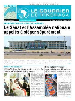 Les Dépêches de Brazzaville : Édition brazzaville du 22 avril 2020
