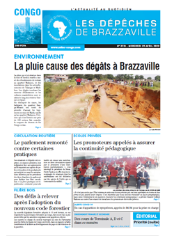 Les Dépêches de Brazzaville : Édition brazzaville du 29 avril 2020
