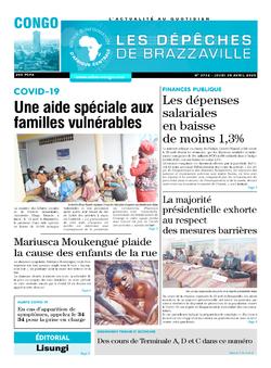 Les Dépêches de Brazzaville : Édition brazzaville du 30 avril 2020