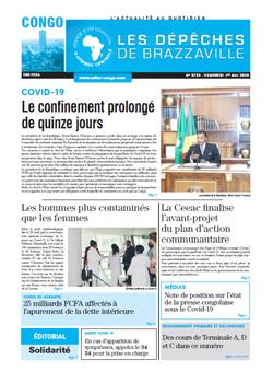 Les Dépêches de Brazzaville : Édition brazzaville du 01 mai 2020