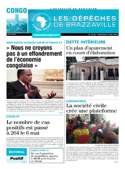 Les Dépêches de Brazzaville : Édition brazzaville du 08 mai 2020