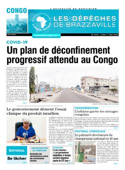 Les Dépêches de Brazzaville : Édition brazzaville du 11 mai 2020