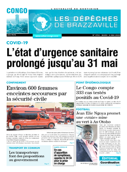 Les Dépêches de Brazzaville : Édition brazzaville du 12 mai 2020