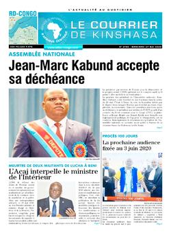 Les Dépêches de Brazzaville : Édition brazzaville du 27 mai 2020