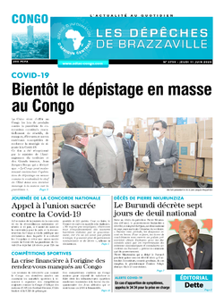 Les Dépêches de Brazzaville : Édition brazzaville du 11 juin 2020