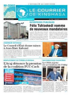 Les Dépêches de Brazzaville : Édition brazzaville du 12 juin 2020
