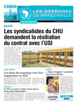 Les Dépêches de Brazzaville : Édition brazzaville du 21 juillet 2020