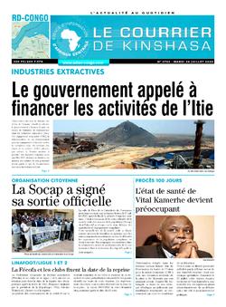 Les Dépêches de Brazzaville : Édition brazzaville du 28 juillet 2020