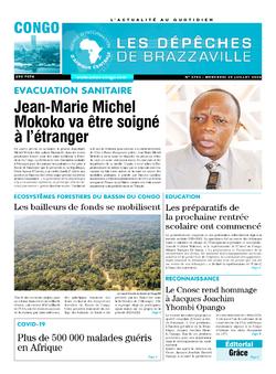 Les Dépêches de Brazzaville : Édition brazzaville du 29 juillet 2020