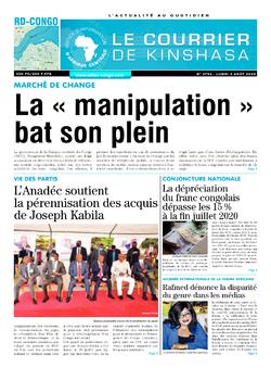 Les Dépêches de Brazzaville : Édition brazzaville du 05 août 2020