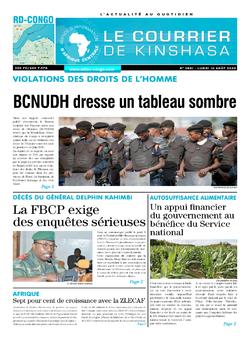 Les Dépêches de Brazzaville : Édition brazzaville du 10 août 2020