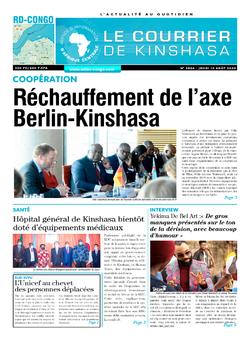 Les Dépêches de Brazzaville : Édition brazzaville du 13 août 2020