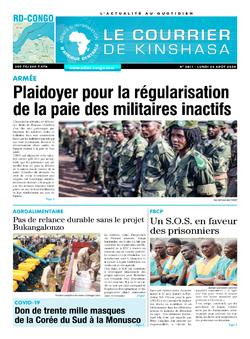 Les Dépêches de Brazzaville : Édition brazzaville du 24 août 2020
