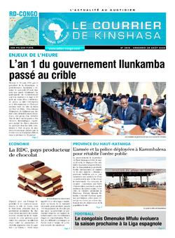 Les Dépêches de Brazzaville : Édition brazzaville du 28 août 2020