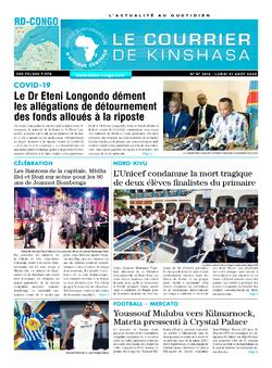 Les Dépêches de Brazzaville : Édition brazzaville du 31 août 2020