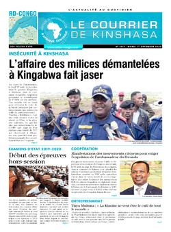 Les Dépêches de Brazzaville : Édition brazzaville du 01 septembre 2020