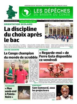 Les Dépêches de Brazzaville : Édition du 6e jour du 12 septembre 2020
