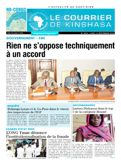 Les Dépêches de Brazzaville : Édition brazzaville du 14 septembre 2020