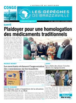 Les Dépêches de Brazzaville : Édition brazzaville du 16 septembre 2020