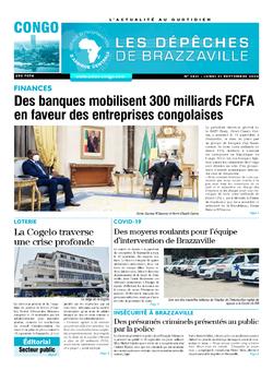 Les Dépêches de Brazzaville : Édition brazzaville du 21 septembre 2020