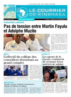 Les Dépêches de Brazzaville : Édition brazzaville du 25 septembre 2020