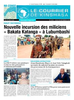 Les Dépêches de Brazzaville : Édition brazzaville du 28 septembre 2020