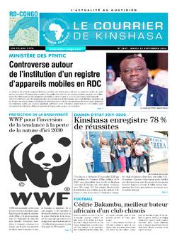Les Dépêches de Brazzaville : Édition brazzaville du 29 septembre 2020