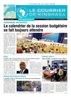 Les Dépêches de Brazzaville : Édition brazzaville du 30 septembre 2020