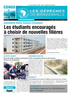 Les Dépêches de Brazzaville : Édition brazzaville du 06 octobre 2020