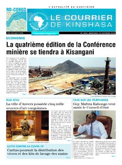 Les Dépêches de Brazzaville : Édition brazzaville du 07 octobre 2020